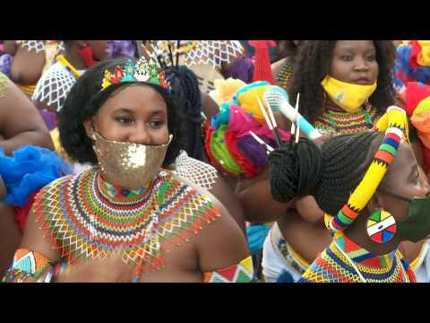South Africans dance and chant in farewell ceremony for Zulu king Goodwill Zwelithini