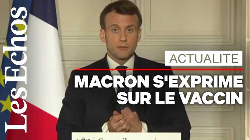 Illustration pour la vidéo Macron dit qu'il accepterait de recevoir le vaccin d'AstraZeneca