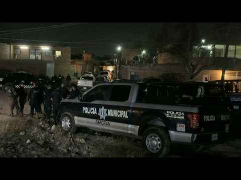 Police on scene after 11 people killed by gunmen in western Mexico