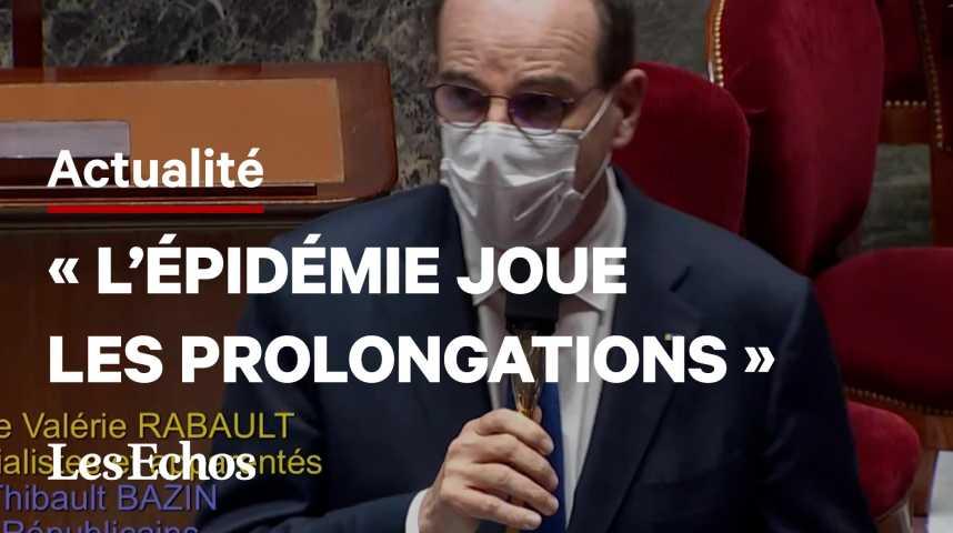 Illustration pour la vidéo Covid: la France est dans «une sorte de troisième vague», prévient Jean Castex