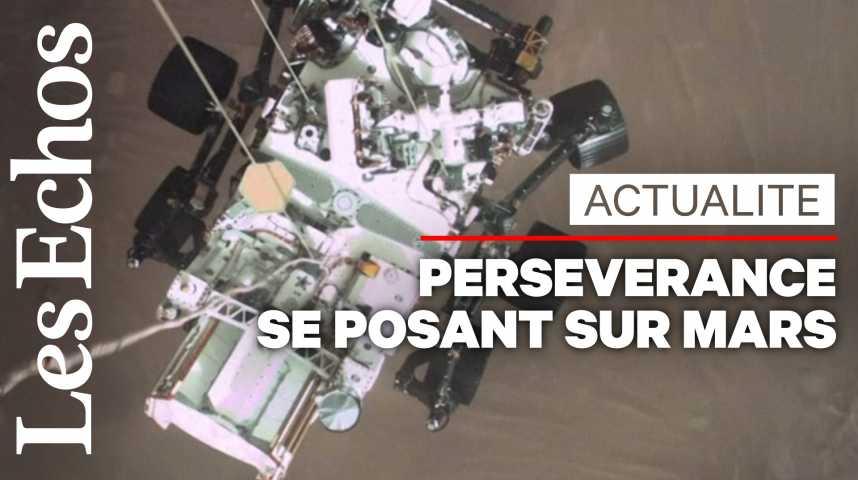 Illustration pour la vidéo La NASA révèle les images de Perseverance se posant sur Mars