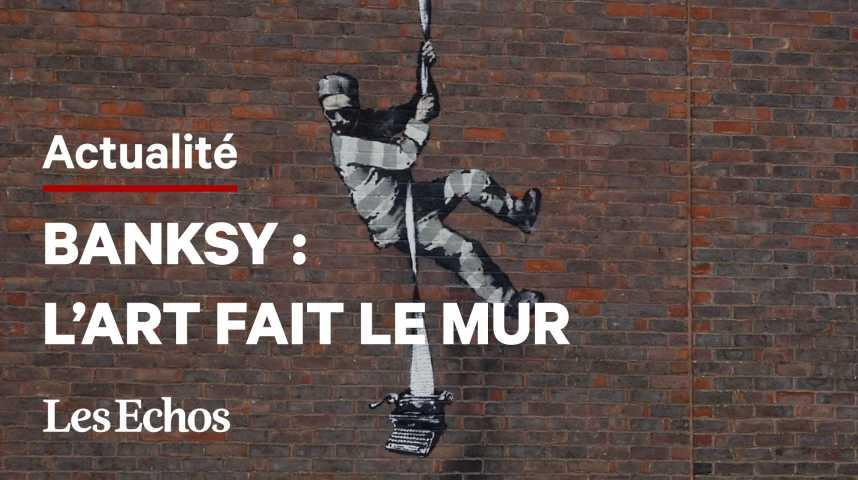 Illustration pour la vidéo Un nouveau Banksy repéré sur le mur d'une ancienne prison au Royaume-Uni