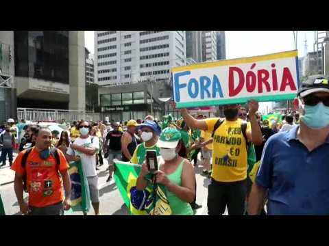 Bolsonaro's supporters take to Brazilian streets to protest Covid-19 restrictions