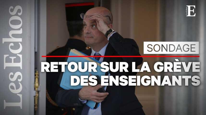 Illustration pour la vidéo Le projet de loi Blanquer pèse sur la popularité de son ministre