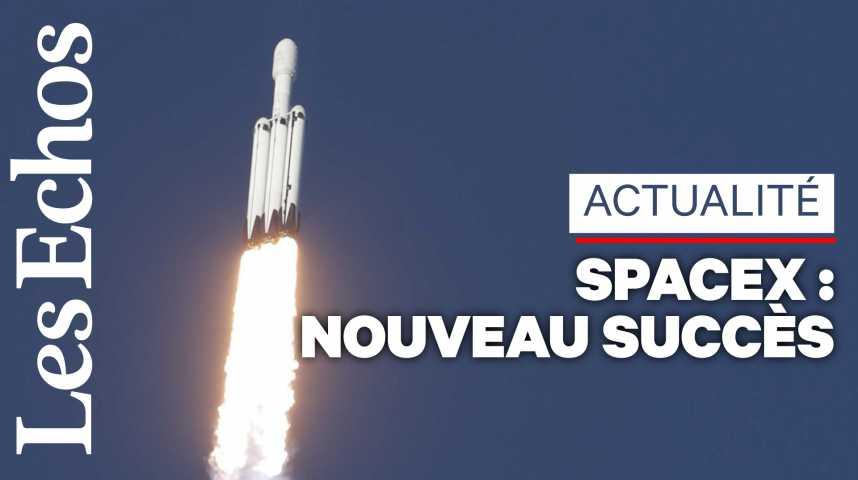 Illustration pour la vidéo SpaceX : premier vol commercial réussi pour la Falcon Heavy