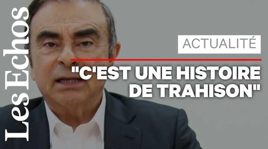 """Illustration pour la vidéo Carlos Ghosn se dit """"victime d'un complot"""""""
