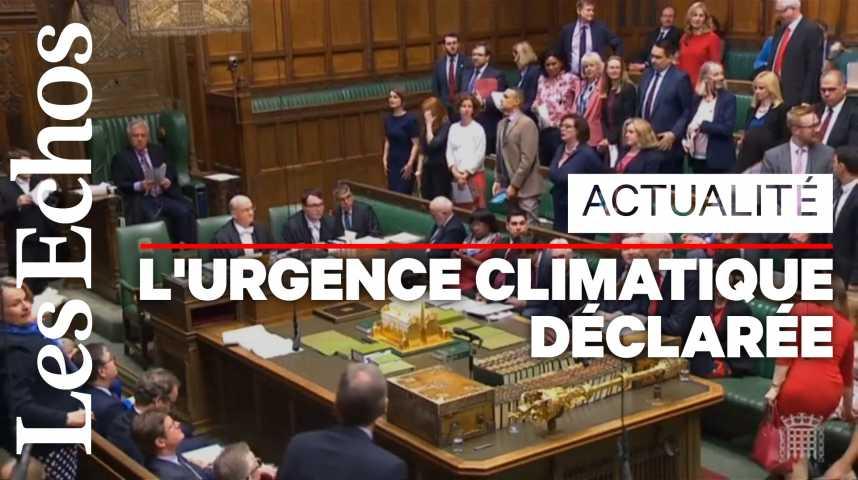 Illustration pour la vidéo Le Parlement britannique déclare l' « urgence climatique »