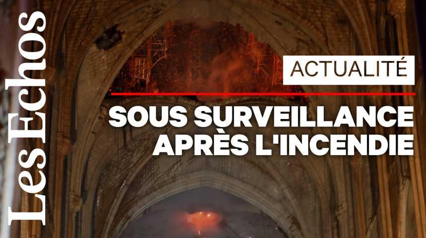 Illustration pour la vidéo Après l'incendie, Notre-Dame placée sous surveillance