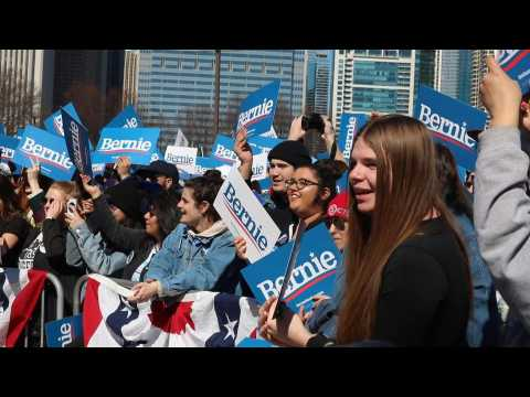 Bernie Sanders supporters rally ahead of Tuesday primaries