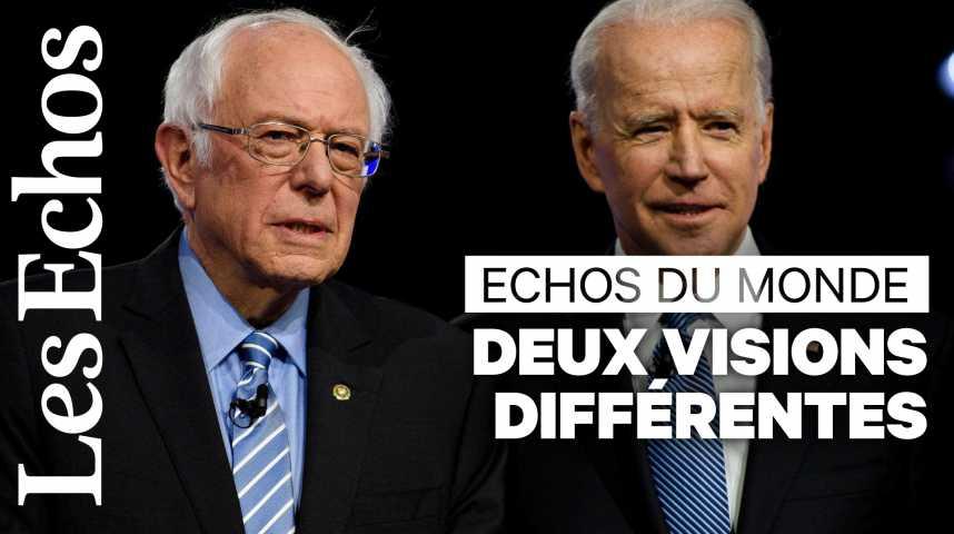 Illustration pour la vidéo Joe Biden et Bernie Sanders, deux visions radicalement différentes pour battre Donald Trump
