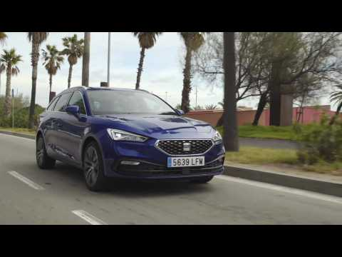 The all-new Seat Leon Sportstourer XCellence Mistery Blue Driving Video