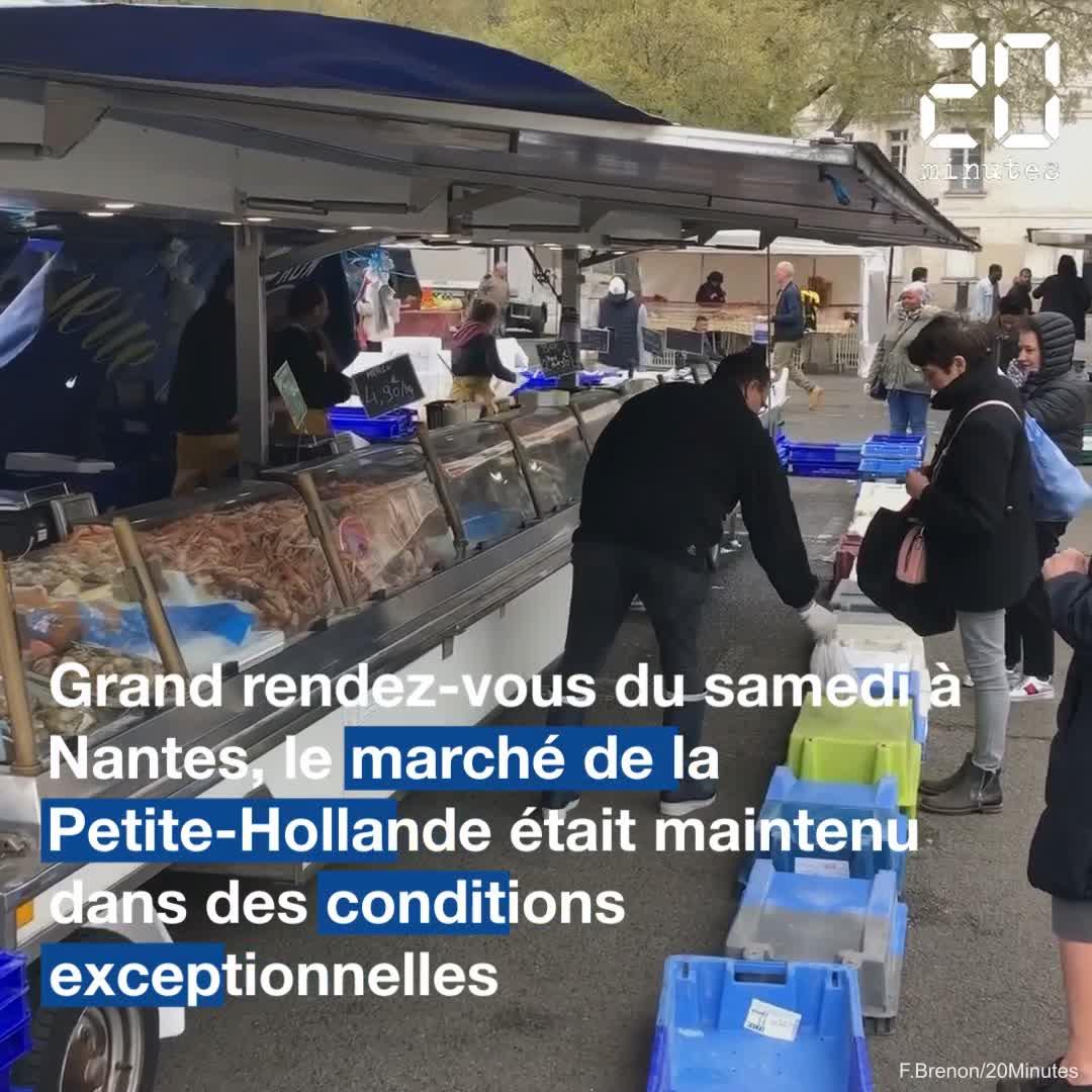 Le marché de la Petite-Hollande à Nantes maintenu en plein confinement