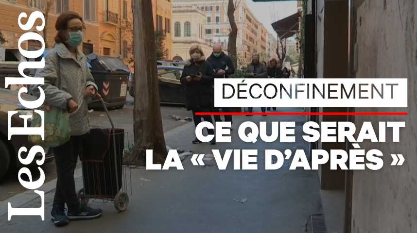 Illustration pour la vidéo Déconfinement : l'Italie dévoile son premier scénario pour l'«après»