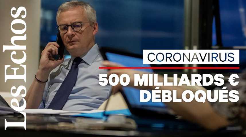 Illustration pour la vidéo Coronavirus : 500 milliards d'euros débloqués par les Européens pour soutenir l'économie