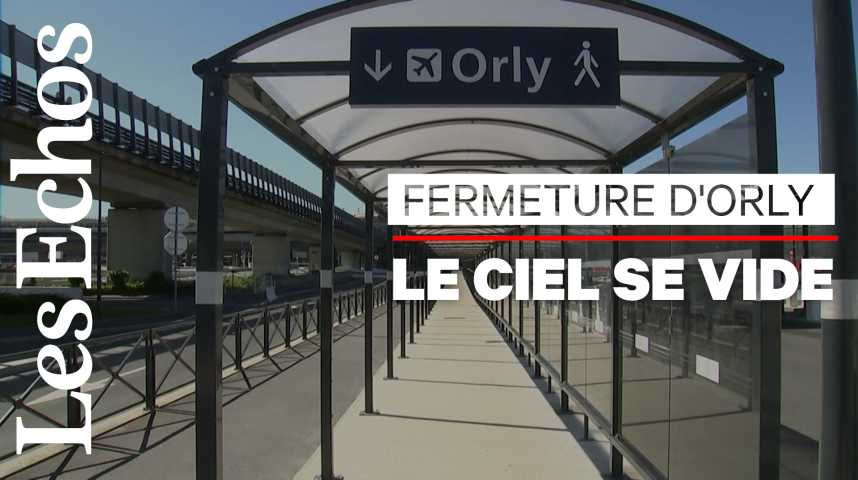 Illustration pour la vidéo A Orly, les derniers passagers avant la fermeture commerciale