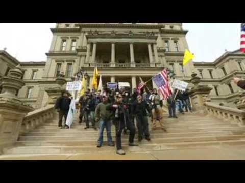 Huge pro-Trump demonstration demands end to stay-home order in Michigan