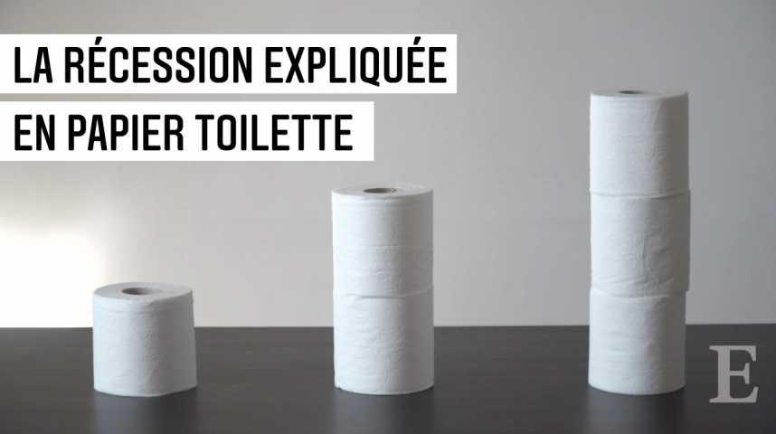 Illustration pour la vidéo Eureka #3 : La récession expliquée en papier-toilette