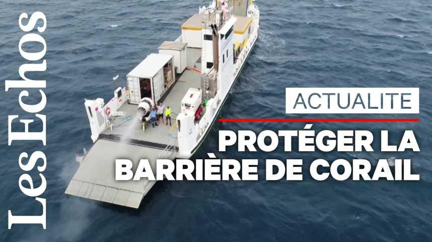 Illustration pour la vidéo Une expérience pour rendre les «nuages brillants» dans l'espoir de protéger la Barrière de corail