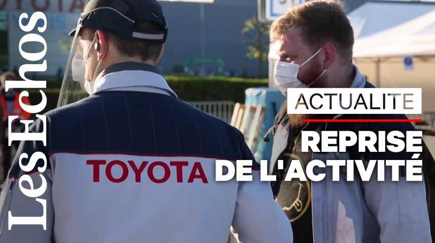 Illustration pour la vidéo L'activité a repris dans l'usine française de Toyota