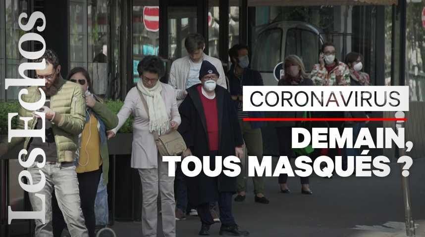 Illustration pour la vidéo Coronavirus : tout ce qu'il faut savoir sur le port du masque