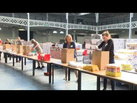 Lockdown: Coronavirus crisis sparks surge of people at London food bank