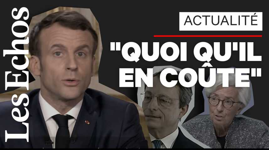 Illustration pour la vidéo «Quoi qu'il en coûte» : Macron, digne héritier de Draghi ?