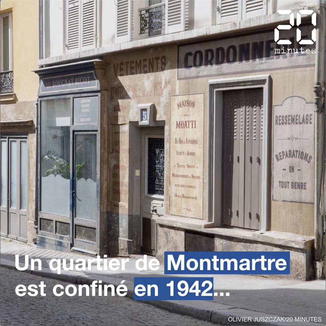 Coronavirus : Visite d'un quartier de Montmartre confiné en 1942