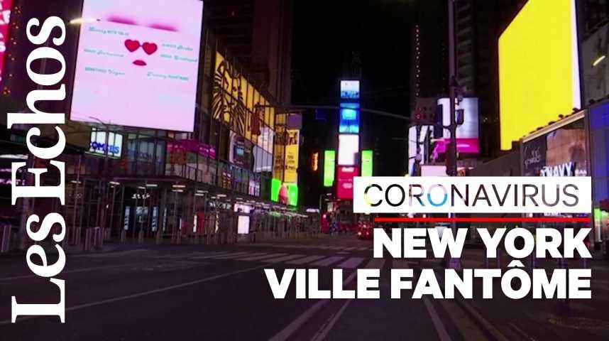 Illustration pour la vidéo New York, ville quasi-fantôme à l'heure du coronavirus