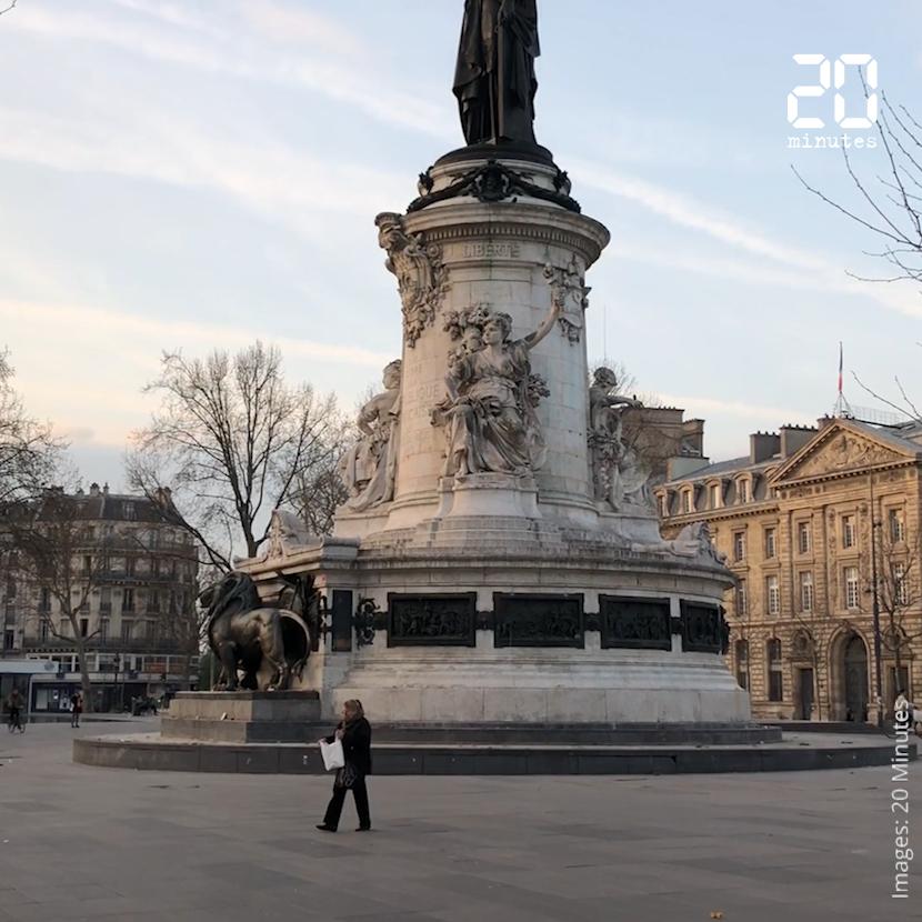 Coronavirus: Des villes françaises désertes au deuxième jour du confinement