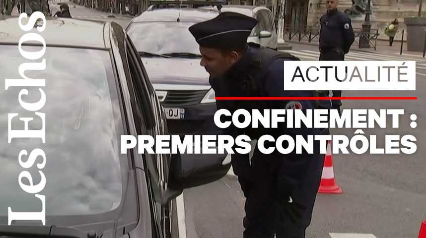 Illustration pour la vidéo Confinement : la police procède aux premiers contrôles sur les déplacements