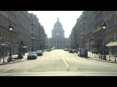 Paris's Pantheon district deserted on 34th day of French lockdown against coronavirus