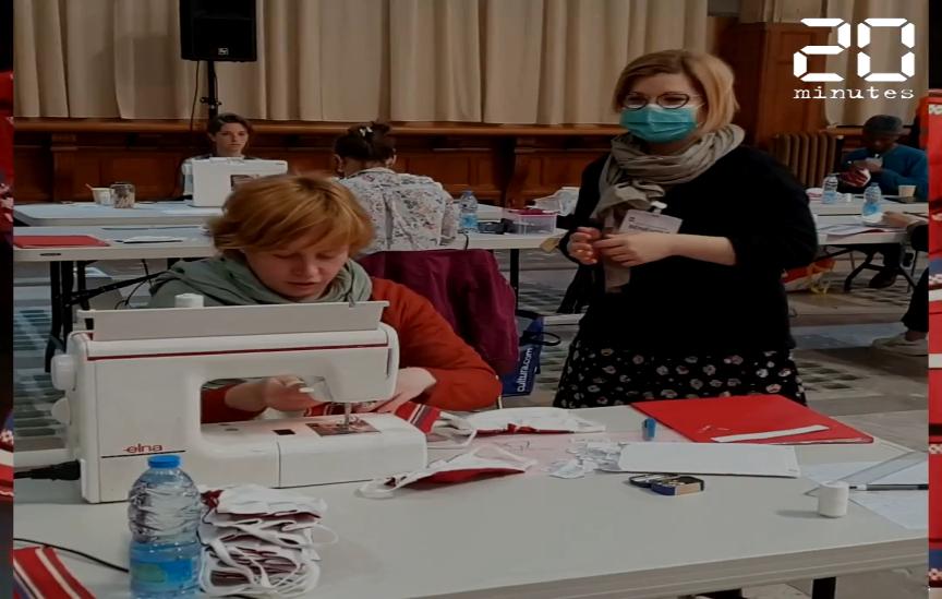 Coronavirus: Un atelier de confection de masques en mairie de Lille