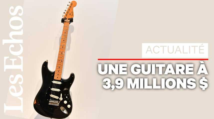 Illustration pour la vidéo Pink Floyd : records lors de la vente des guitares de David Gilmour