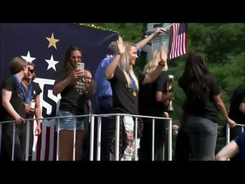 VIDEO - La parade new yorkaise des championnes du monde