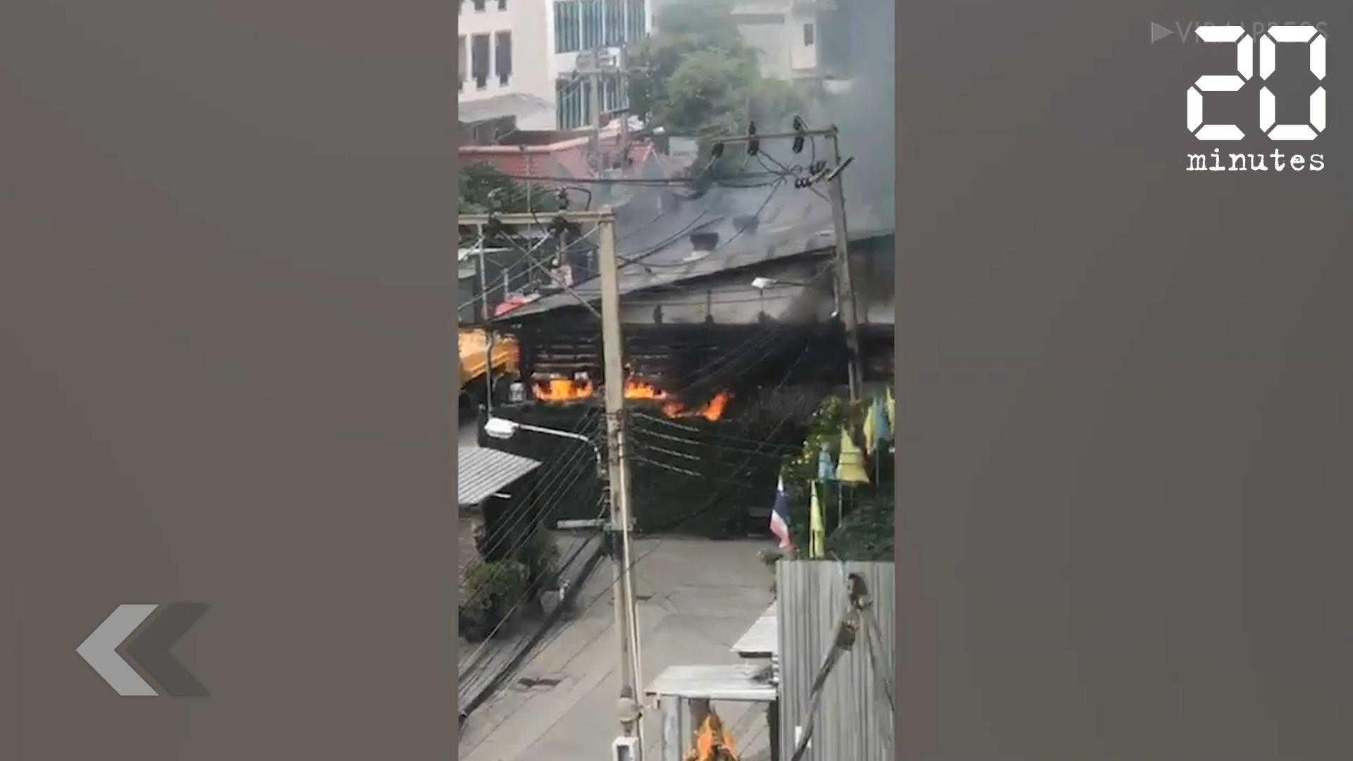 Le Rewind: Deux blessés dans l'incendie d'une usine à Bangkok