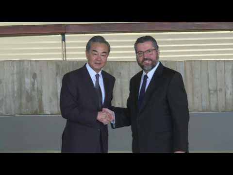 China's Foreign minister meets his Brazilian counterpart in Brasilia