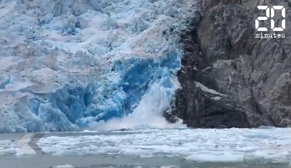 Le Rewind: Alaska: Un glacier en train de s'effondrer filmé par des touristes