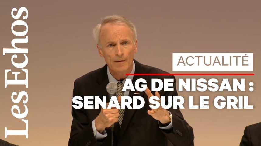 Illustration pour la vidéo Jean-Dominique Senard pris à partie lors d'une AG de Nissan