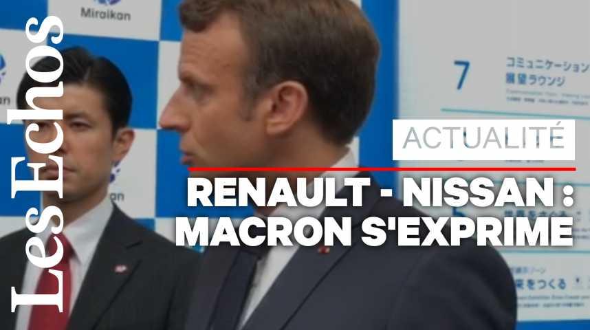 Illustration pour la vidéo Macron : « L'avenir est à une intégration croissante entre Renault et Nissan »
