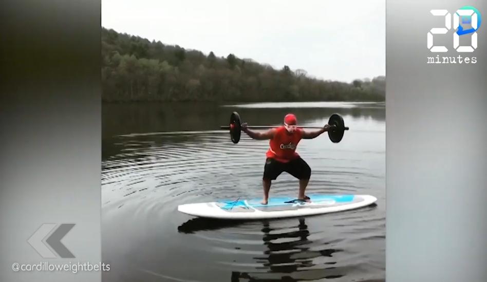 Le Rewind: Un sportif américain filme son entraînement quotidien hors-norme
