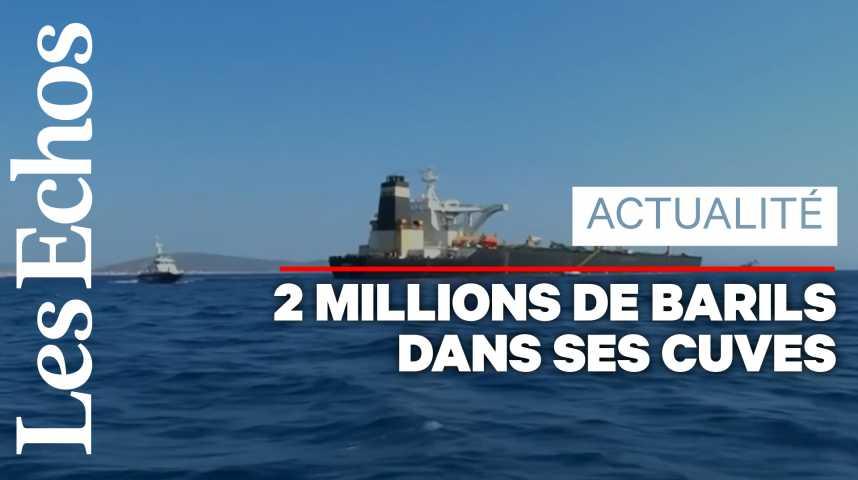 Illustration pour la vidéo Un pétrolier iranien soupçonné de livrer du pétrole à la Syrie arraisonné à Gibraltar