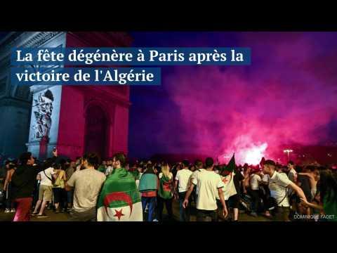 La fête dégénère à Paris après la victoire de l'Algérie