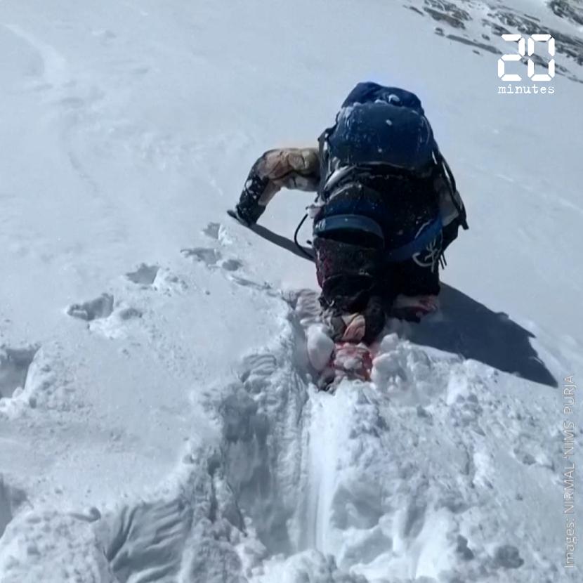 """L'alpiniste népalais Nirmal Purja revendique l'ascension des quatorze """"8 000"""" en sept mois"""