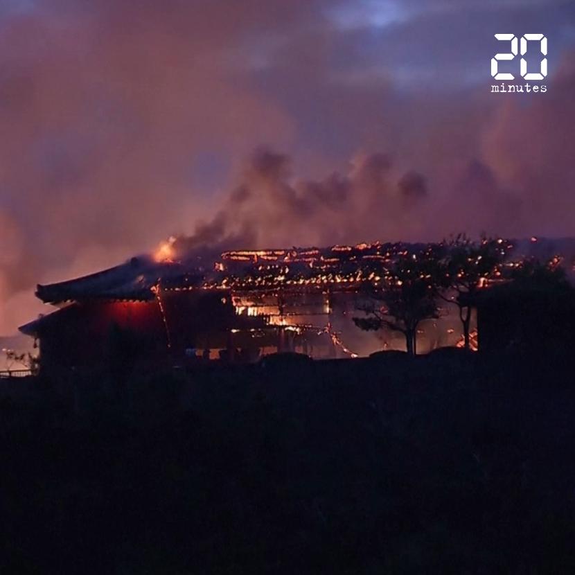 Japon : Un château classé au Patrimoine mondial dévasté par les flammes