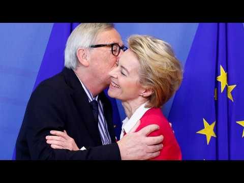 European Commission President Juncker hands over to Ursula von der Leyen