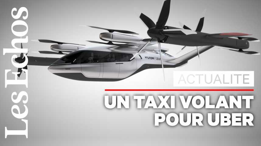Illustration pour la vidéo Un taxi volant présenté par Uber et Hyundai