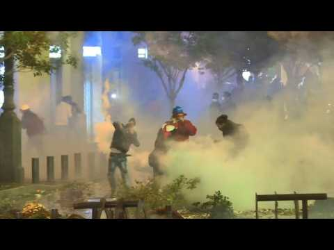 Lebanese protesters clash with police for a second night