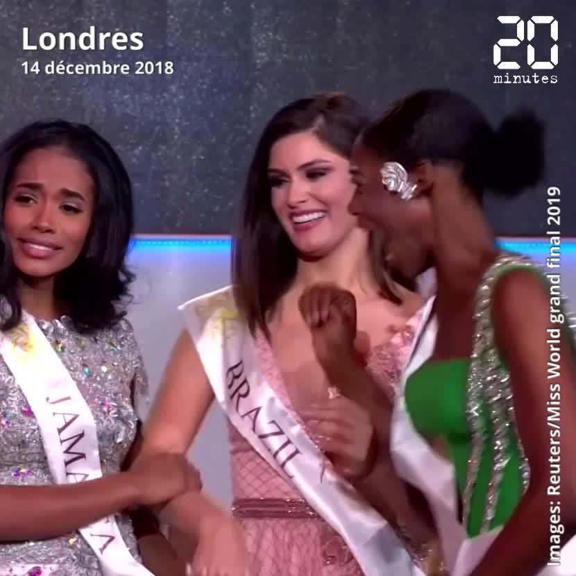 Miss Monde: Miss Nigeria folle de joie à l'annonce de la victoire de... sa concurrente !