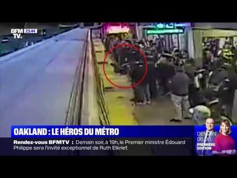 VIDEO: Oakland: sauvetage in extremis d'un homme tombé sur les rails du métro - 05/11