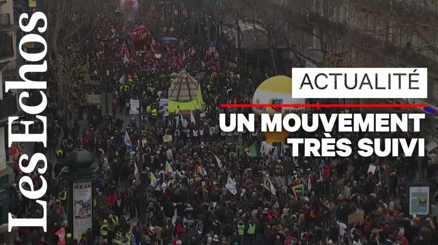 Illustration pour la vidéo Forte mobilisation pour la grève du 5 décembre